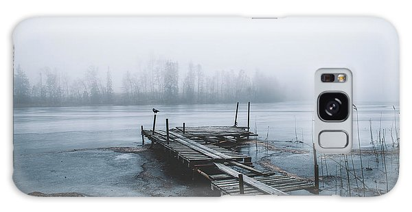 Pier Galaxy Case - Left For Winter by Christian Lindsten