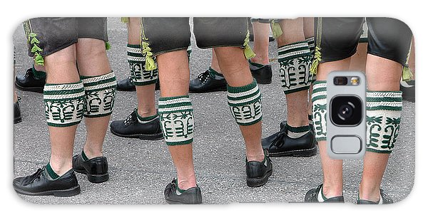 Legs Of Men With Traditional Bavarian Half Stockings Galaxy Case