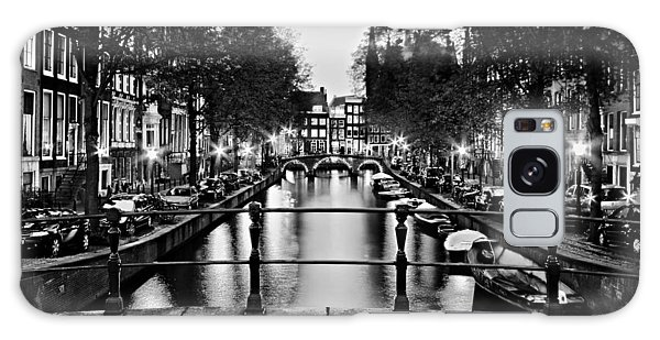 Galaxy Case featuring the photograph Leidsegracht Canal At Night / Amsterdam by Barry O Carroll
