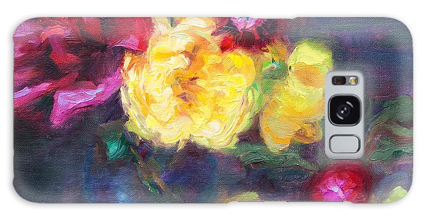 Lemon And Magenta - Flowers And Radish Galaxy Case
