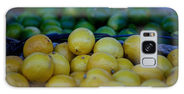 Lemon Lime Galaxy Case by Andre Faubert
