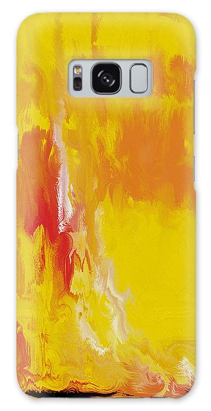 Lemon Yellow Sun Galaxy Case by Roz Abellera Art