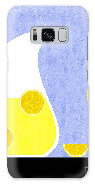 Lemonade And Glass Blue Galaxy Case by Andee Design