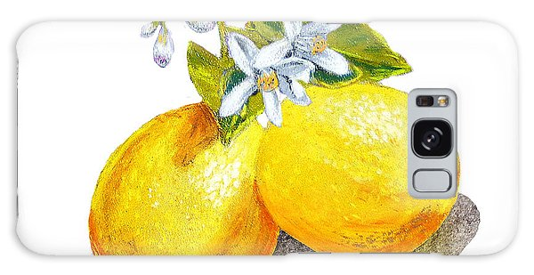 Lemons And Blossoms Galaxy Case