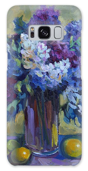 Lemons And Lilacs Galaxy Case by Diane McClary