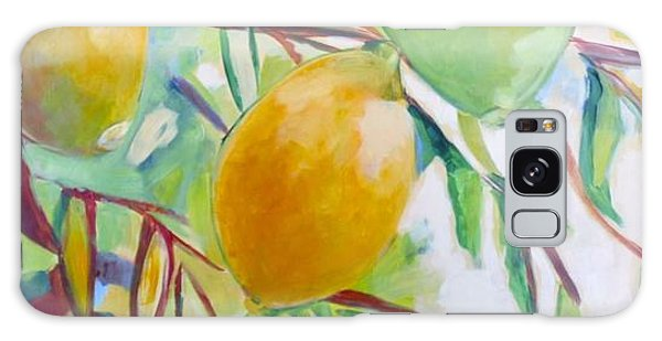 Lemons And Lime Galaxy Case by Shelley Overton
