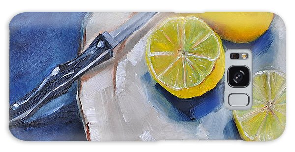 Lemons On A Plate Galaxy Case by Lindsay Frost