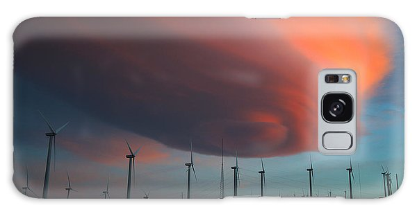 Lenticular Cloud At Sunset Galaxy Case