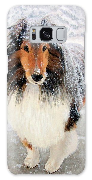 Leo In The Snow Galaxy Case by Sandra Chase
