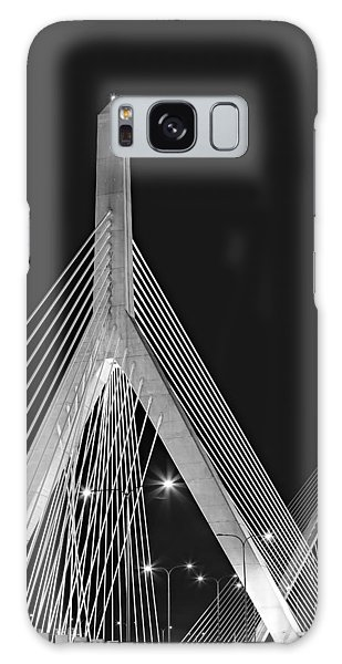 Galaxy Case featuring the photograph Leonard P. Zakim Bunker Hill Memorial Bridge Bw II by Susan Candelario