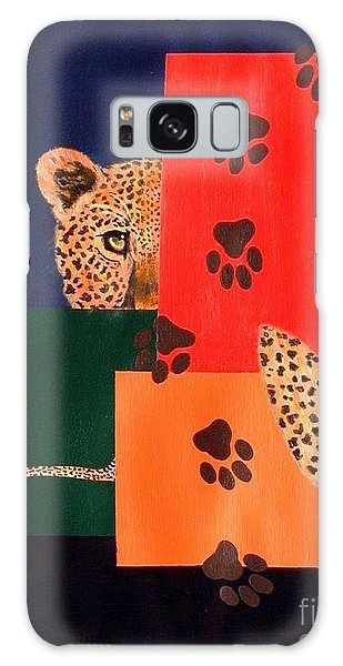 Leopard And Paws Galaxy Case by Lynda Cookson