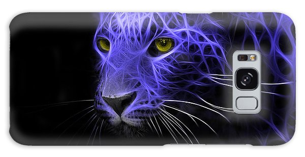 Leopard Fractal Blue Galaxy Case