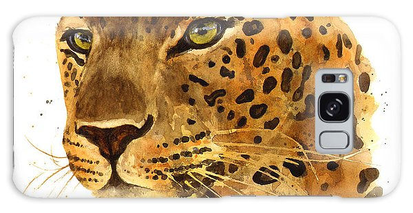 Leopard Gaze Galaxy Case