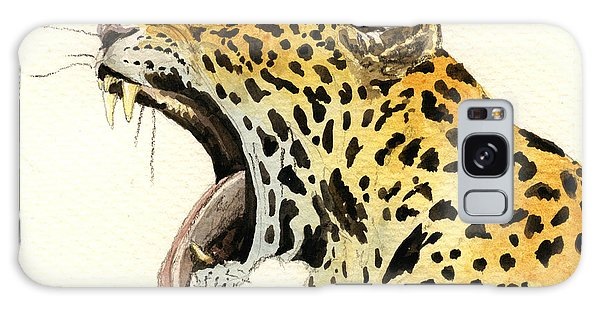 Panther Galaxy S8 Case - Leopard Head by Juan  Bosco