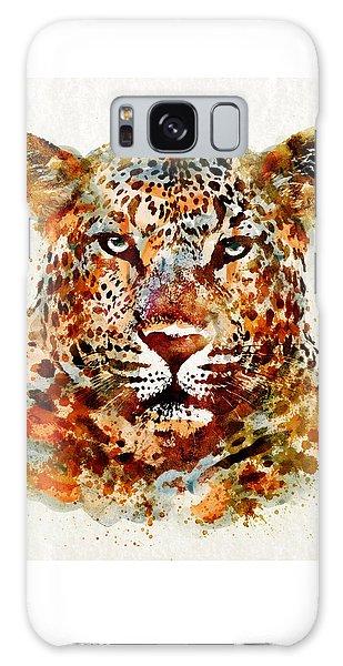 Leopard Head Watercolor Galaxy Case