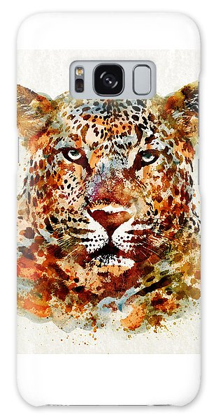 Leopard Head Watercolor Galaxy Case
