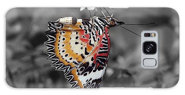 Leopard Lacewing Butterfly Dthu619bw Galaxy Case by Gerry Gantt