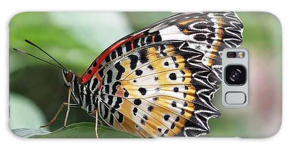 Leopard Lacewing Butterfly Galaxy Case by Judy Whitton