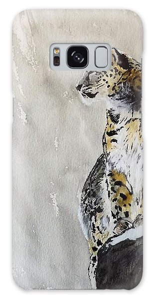 Leopard On A Rock Galaxy Case