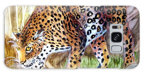 Leopard On The Loose Galaxy Case by Carol Grimes