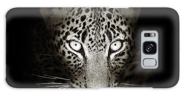 Leopard Galaxy S8 Case - Leopard Portrait In The Dark by Johan Swanepoel