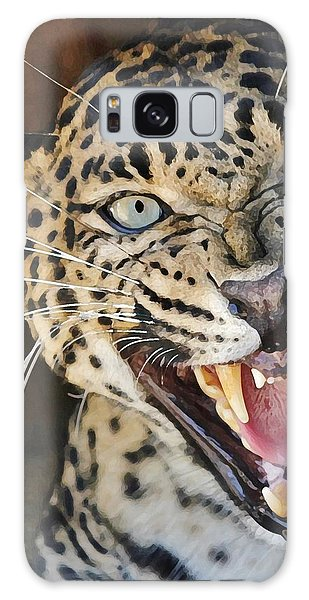 Leopard Snarling Galaxy Case by Diane Alexander