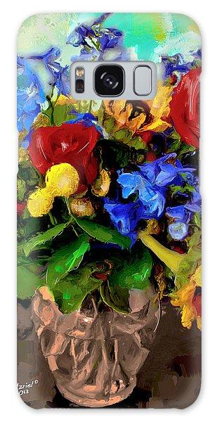 Les Fleurs Galaxy Case by Ted Azriel