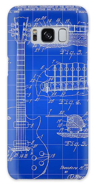 Les Paul Guitar Patent 1953 - Blue Galaxy Case by Stephen Younts