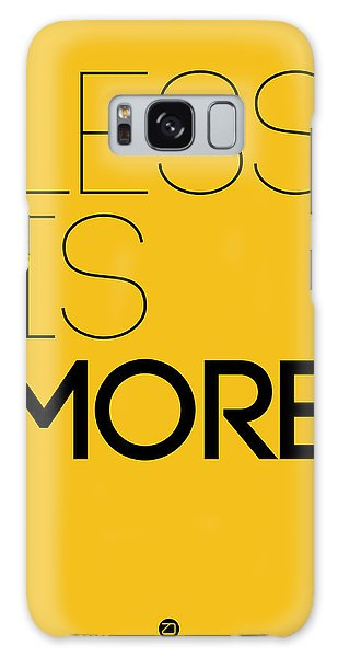 Quote Galaxy Case - Less Is More Poster Yellow by Naxart Studio