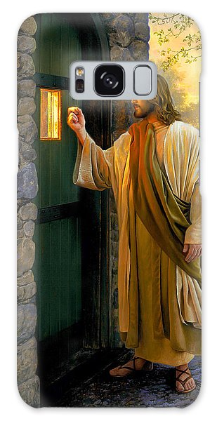 Let Him In Galaxy Case by Greg Olsen