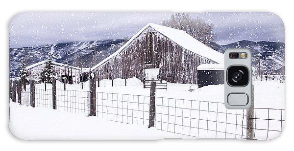 Let It Snow Galaxy Case by Kristal Kraft