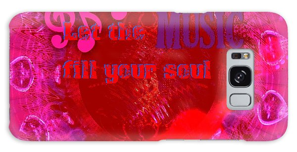 Let The Music Fill Your Soul Pink Galaxy Case