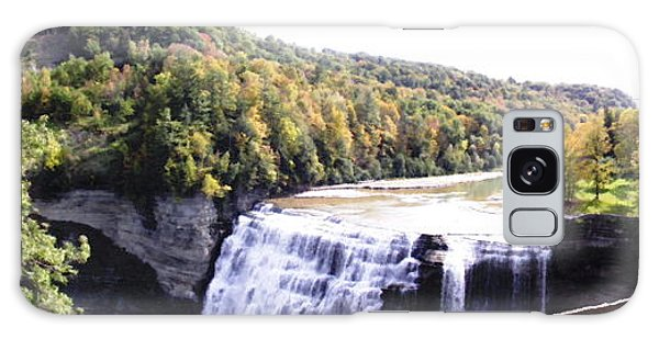Letchworth State Park Middle Falls Panorama Galaxy Case