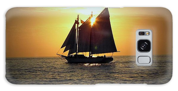 Sailing At Sunset Galaxy Case by Gary Smith