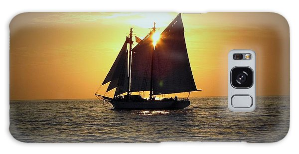 A Key West Sail At Sunset Galaxy Case
