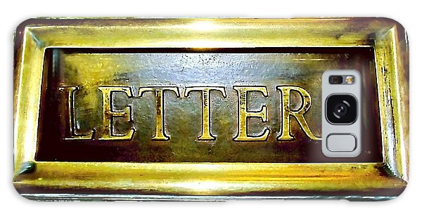 Letters Trough The Door Galaxy Case