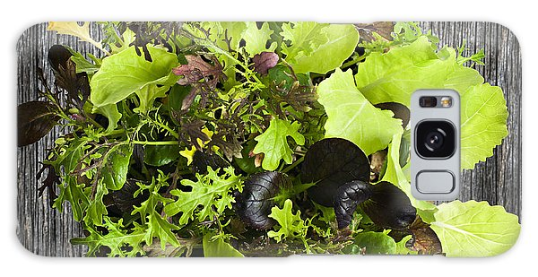 Lettuce Seedlings Galaxy Case
