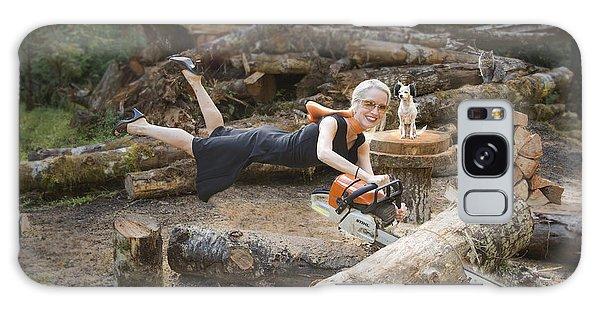 Levitating Housewife - Cutting Firewood Galaxy Case
