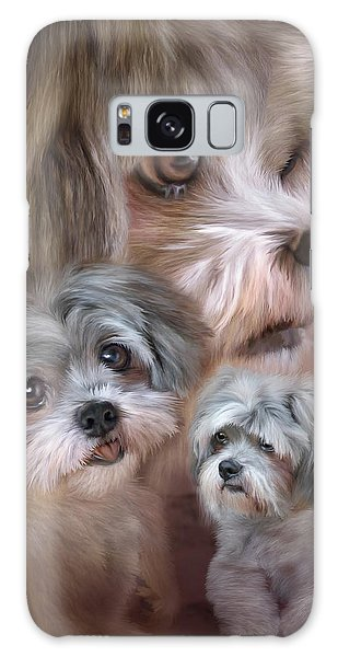 Galaxy Case featuring the mixed media Lhasa Apso by Carol Cavalaris
