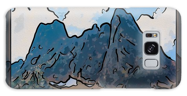 Liberty Bell Mountain Abstract Landscape Painting Galaxy Case