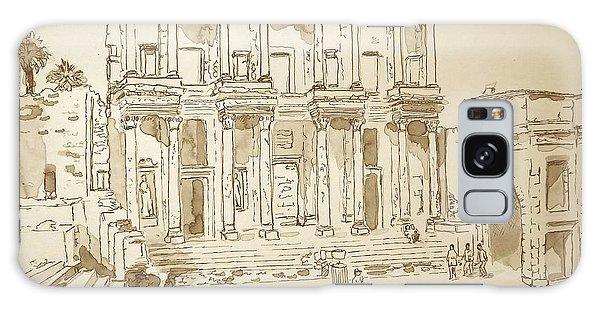 Library At Ephesus II Galaxy Case