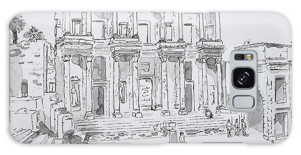Library At Ephesus Galaxy Case