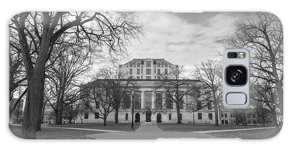 Library Ohio State University Black And White  Galaxy Case