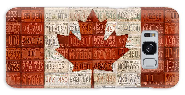 Maple Leaf Art Galaxy Case - License Plate Art Flag Of Canada by Design Turnpike