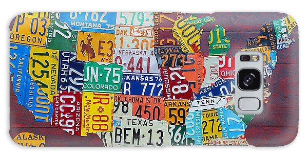 Alaska Galaxy Case - License Plate Map Of The United States by Design Turnpike