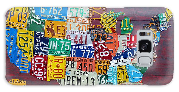 Usa Galaxy Case - License Plate Map Of The United States by Design Turnpike