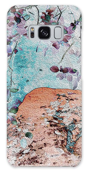 Lichen And Leaves Galaxy Case