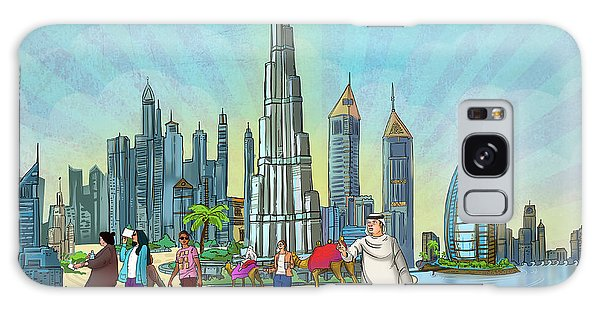 Life In Dubai Galaxy Case