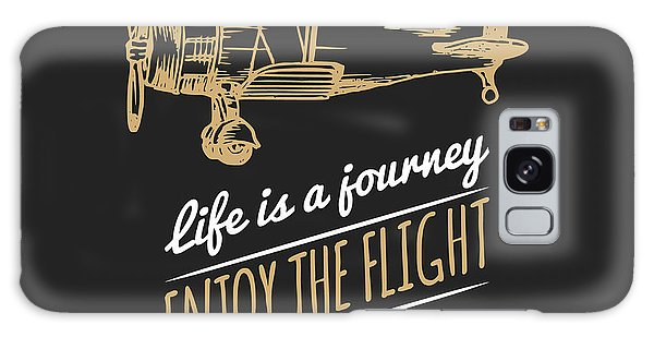 Logo Galaxy Case - Life Is A Journey, Enjoy The Flight by Vlada Young
