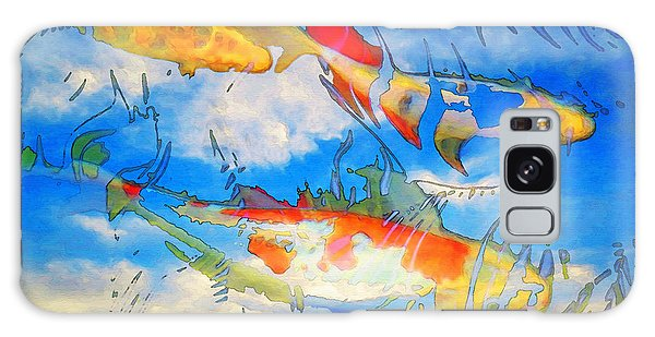 Life Is But A Dream - Koi Fish Art Galaxy Case by Sharon Cummings